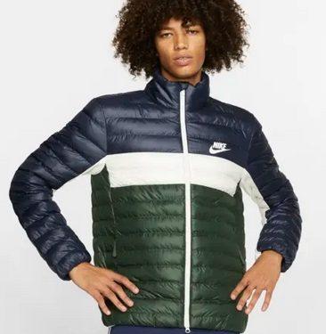 jacket πράσινο μπλε με άσπρο φερμουάρ