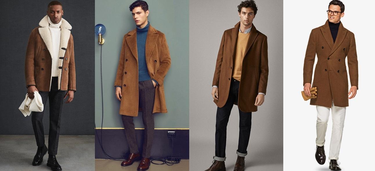 καφέ παλτά και outfits για να τα συνδυάσεις