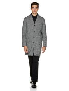 παλτό καρό μακρύ