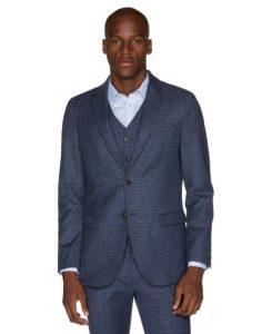 καρό σακάκι γκρι μπλε ρούχα benetton χειμώνα