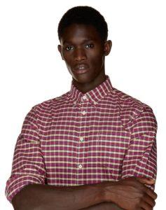 καρό πουκάμισο κόκκινο ρούχα Benetton χειμώνα
