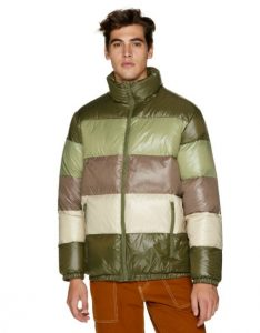 κοντό πολύχρωμο μπουφάν ρούχα benetton χειμώνα