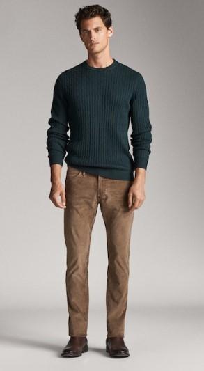 κοτλέ ταμπά slim-fit παντελόνι