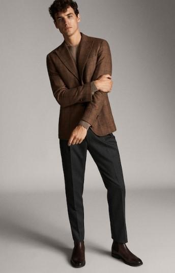 καστανό μάλλινο blazer