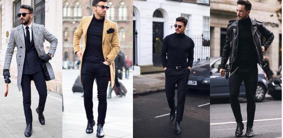 outfits για να επιλέξεις με τα μαύρα chelsea μποτάκια σου