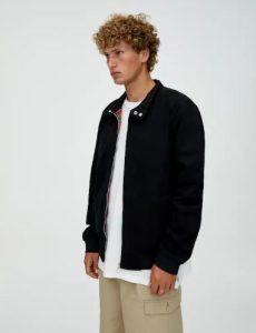 μαύρο απλό μπουφάν