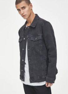 μαύρο jean μπουφάν