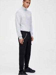 μαύρο παντελόνι με αλυσίδα
