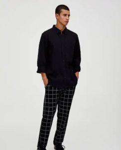 μαύρο πουκάμισο με μανίκι