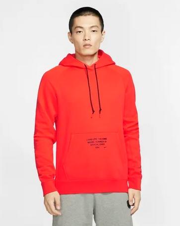 Μπλούζα με κουκούλα Nike κόκκινο