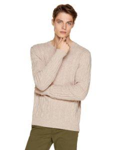 μπεζ μπλούζα με πλεξούδες Ανδρικές πλεκτές μπλούζες Benetton Οι πλεκτές μπλούζες είναι ένα απαραίτητο ρούχο για το χειμώνα. Στα Benetton θα βρεις όποιο στυλ πλεκτής μπλούζας και πουλόβερ μπορεί να σου ταιριάζει. Πλεκτά με λαιμόκοψη, με V, με έντονα καρό μοτίβο, με το κλασικό λογότυπο της εταιρείας ή ακόμα και πιο basic, μονόχρωμα πουλόβερ. Η ποιότητά τους είναι όπως πάντα φοβερή, αφού το μαλλί είναι τόσο μαλακό.