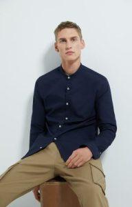 μπλε σκούρο πουκάμισο