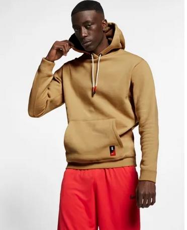 Μπλούζα με κουκούλα Nike καφέ