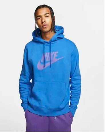 Μπλούζα με κουκούλα μπλε μοβ