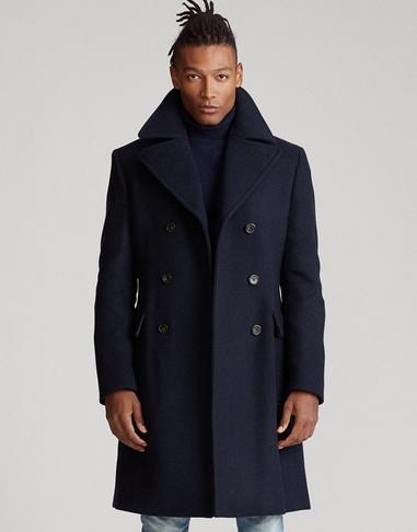 Παλτό μακρύ μπλε με γιακά