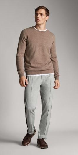 γκρι παντελόνι με πλαϊνές ρίγες