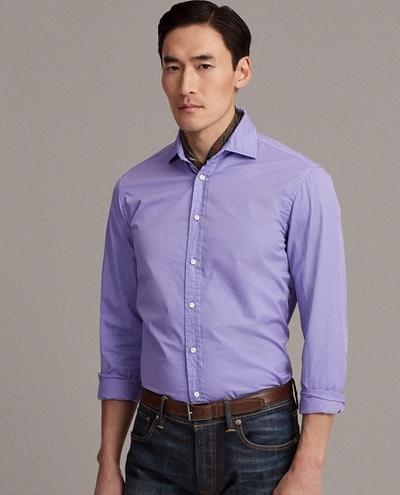 Πουκάμισο twill μοβ