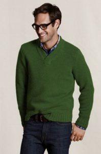 πράσινο πουλόβερ πουκάμισο κομψός casual ντύσιμο