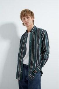 πράσινο ριγέ πουκάμισο