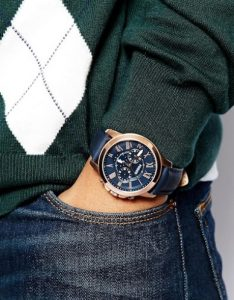 ρολόι μπλε λουράκι