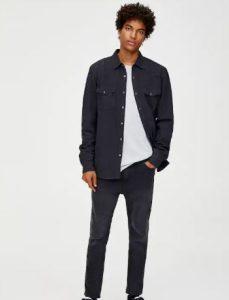 σκούρο μπλε πουκάμισο
