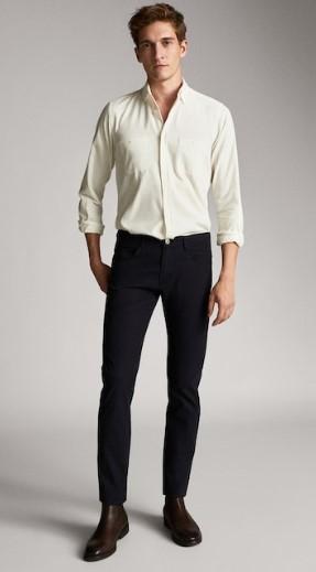 denim παντελόνι σκούρο μπλε slim-fit