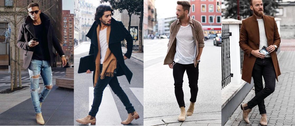outfits για να επιλέξεις με τα μπεζ σουέντ chelsea μποτάκια σου