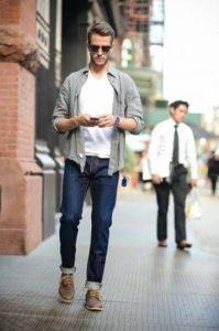 τζιν παντελόνι ίσια γραμμή γυρισμένα ρεβέρ κομψός casual ντύσιμο