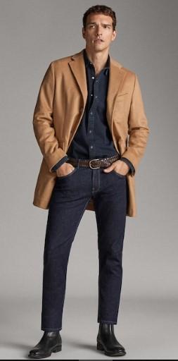 σκούρο μπλε τζιν παντελόνι slim-fit