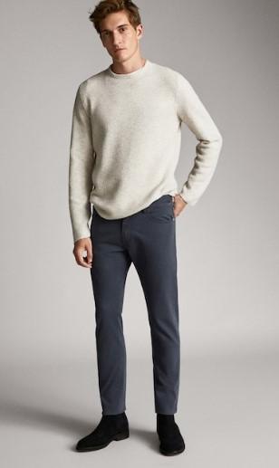 μπλε τζιν παντελόνι slim-fit