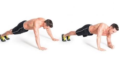 walking planks-παραλλαγή άσκησης σανίδα