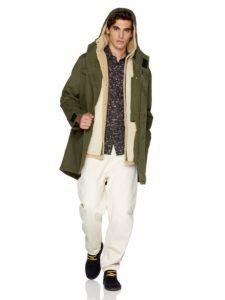 χακί παρκά μακρύ ρούχα benetton χειμώνα