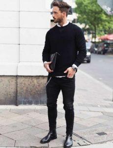 chelsea μαύρο μποτάκι παπούτσια business casual