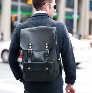 δερμάτινη μαύρη τσάντα πλάτης είδη τσάντας άντρας