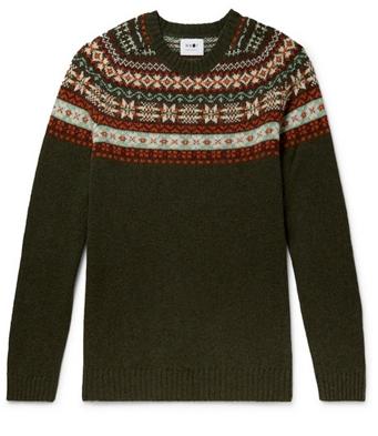 Χριστουγεννιάτικα πουλόβερ: fair isle πράσινο