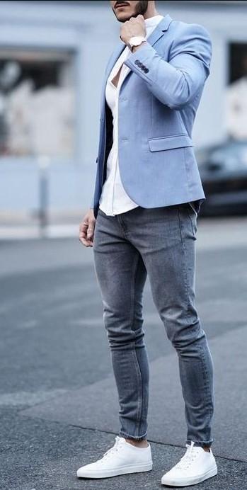 Jean με σακάκι
