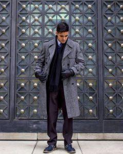 γκρι παλτό μακρύ