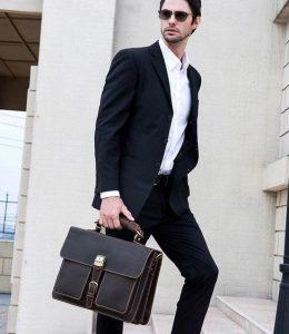 καφέ κλασικός χαρτοφύλακας είδη τσάντας άντρας