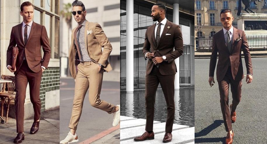 καφέ κοστούμι