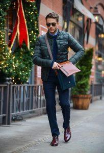καφέ oxfords μπλε παντελόνι παπούτσια business casual