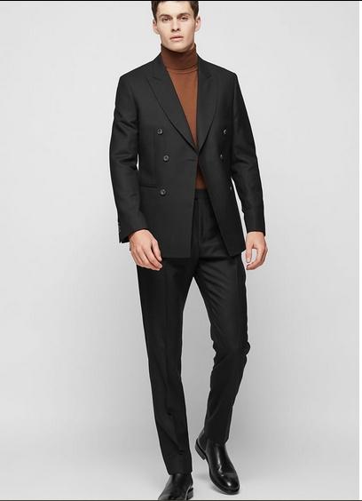 Μαύρο σακάκι παντελόνι και ζιβάγκο