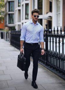 μαύρα oxfords πουκάμισο
