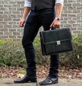 μαύρος δερμάτινος χαρτοφύλακας είδη τσάντας άντρας