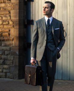 μαύρος χαρτοφύλακας κοστούμι