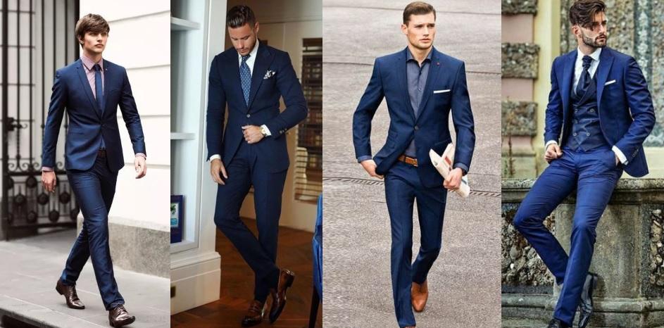 navy μπλε κοστούμι