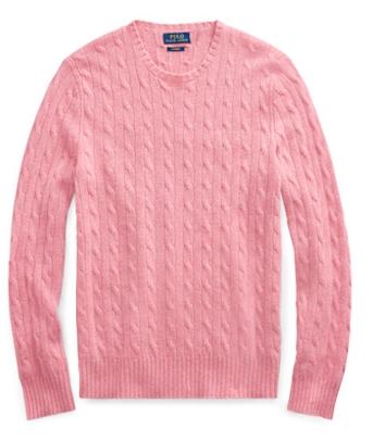 Πουλόβερ με πλεξίδες ροζ