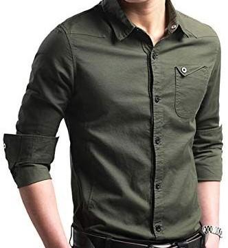 Σκούρο πράσινο πουκάμισο