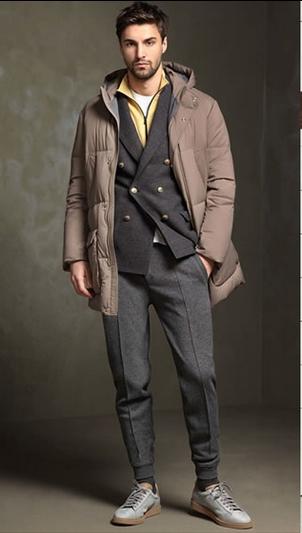τρόποι για να συνδυάσεις τα ρούχα σου: φόρμα γκρι παλτό