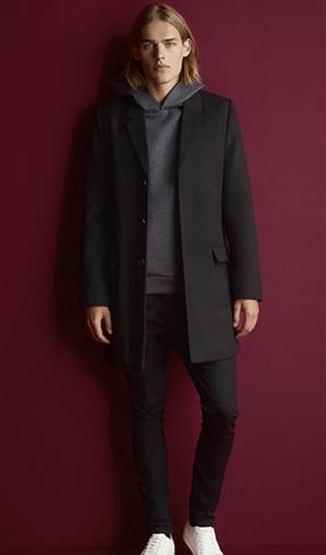 τρόποι για να συνδυάσεις τα ρούχα σου hoodie γκρι μαύρο παλτό