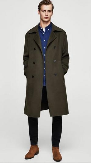 Τζιν και πράσινο παλτό